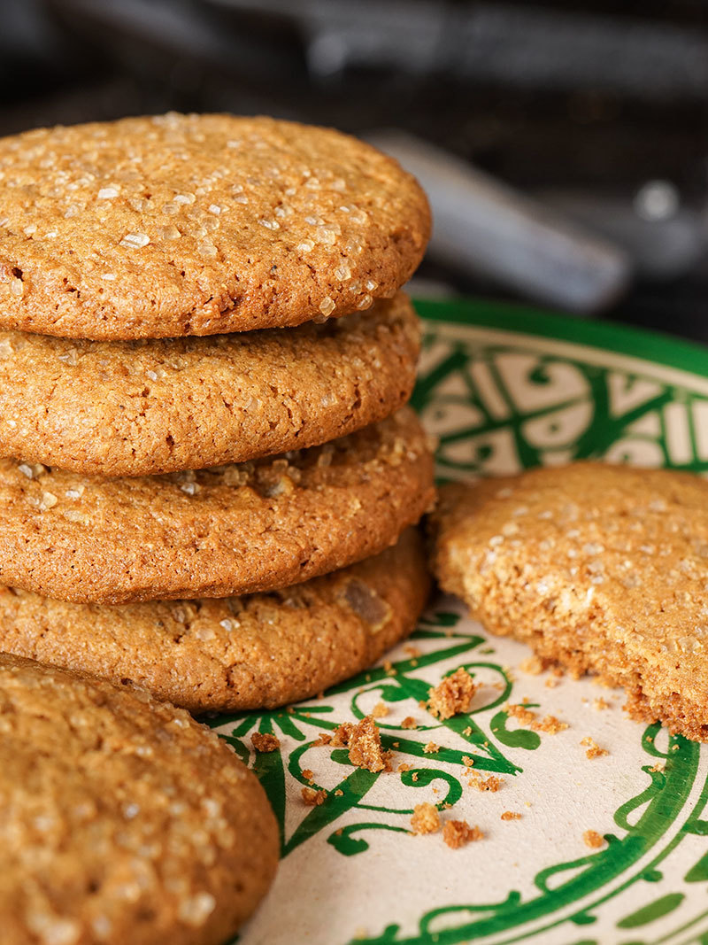 Triple Ginger Snap Cookies