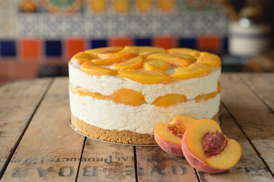 Cheesecake Aux Peches Sans Cuisson