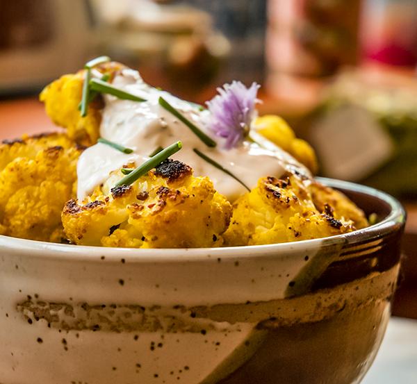 Madras Curry Roasted Cauliflower