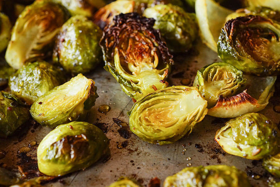 Honey Roast Brussels sprouts