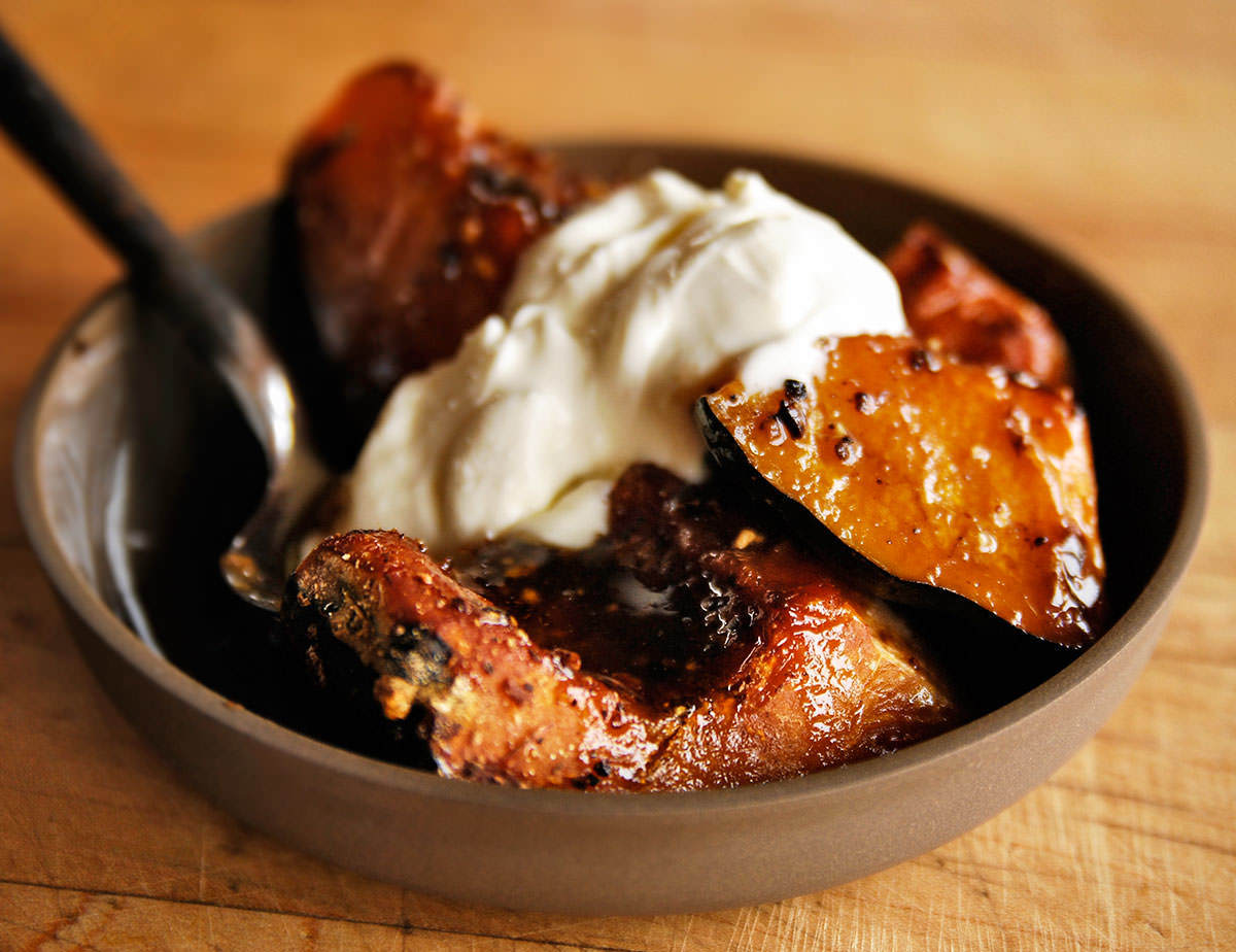 Spicy, caramelized squash