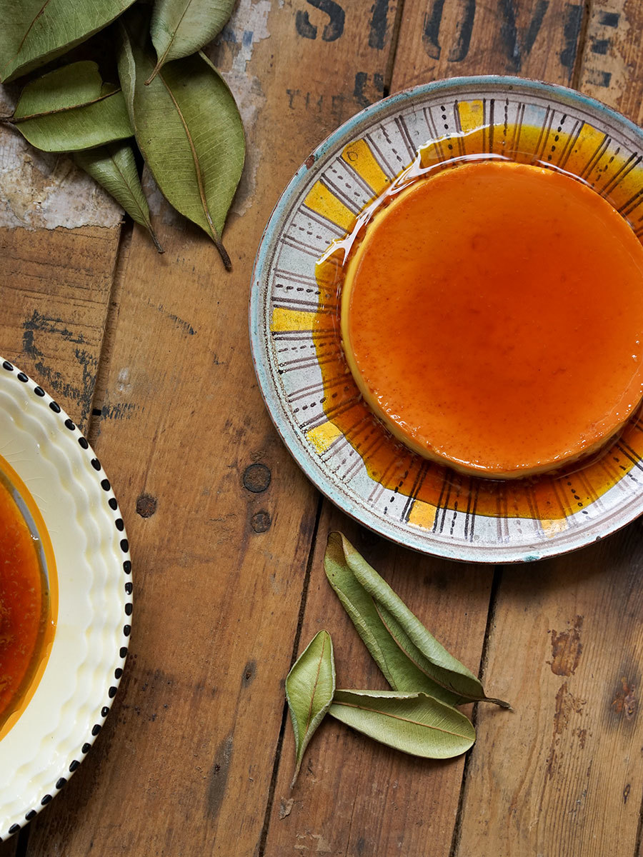 Lemon and West-Indian Bay leaf crème caramel