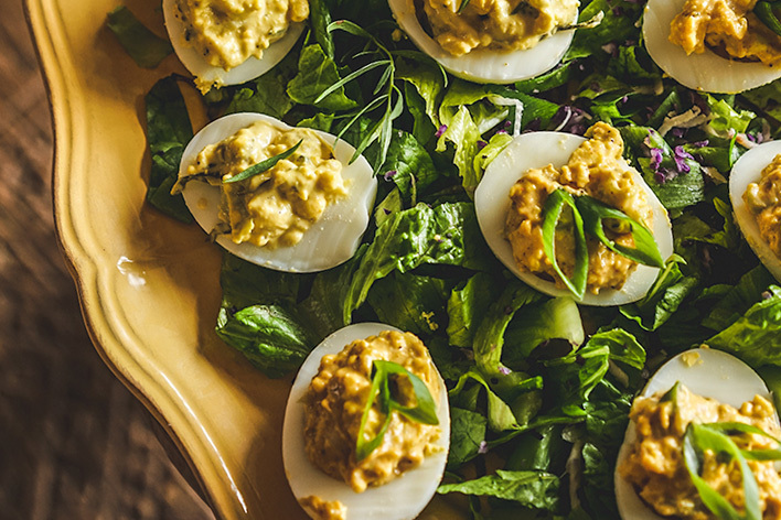 Deviled Eggs East Coast