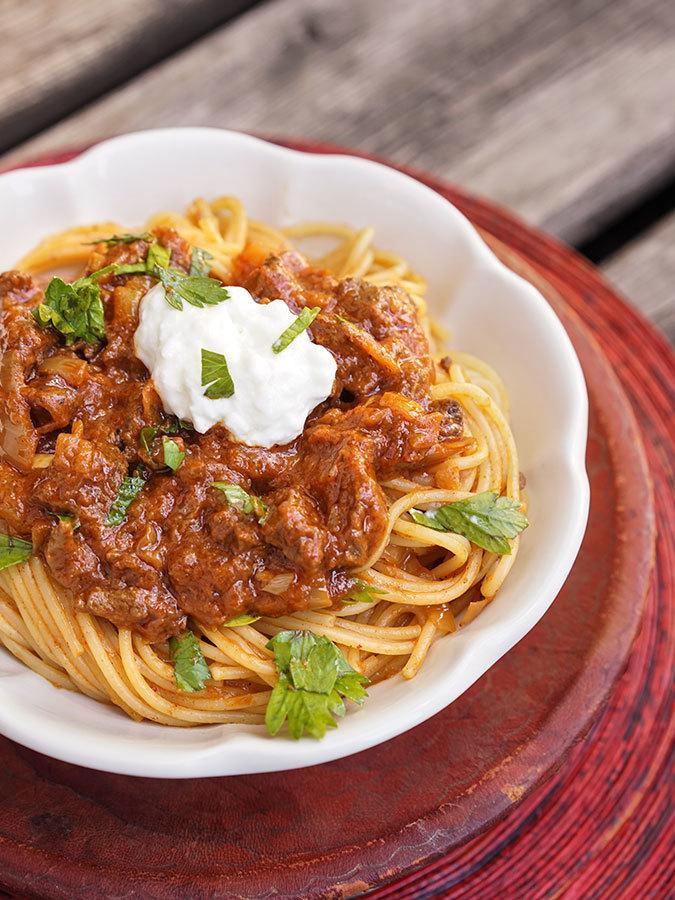 Ethiopian Beef Spaghetti