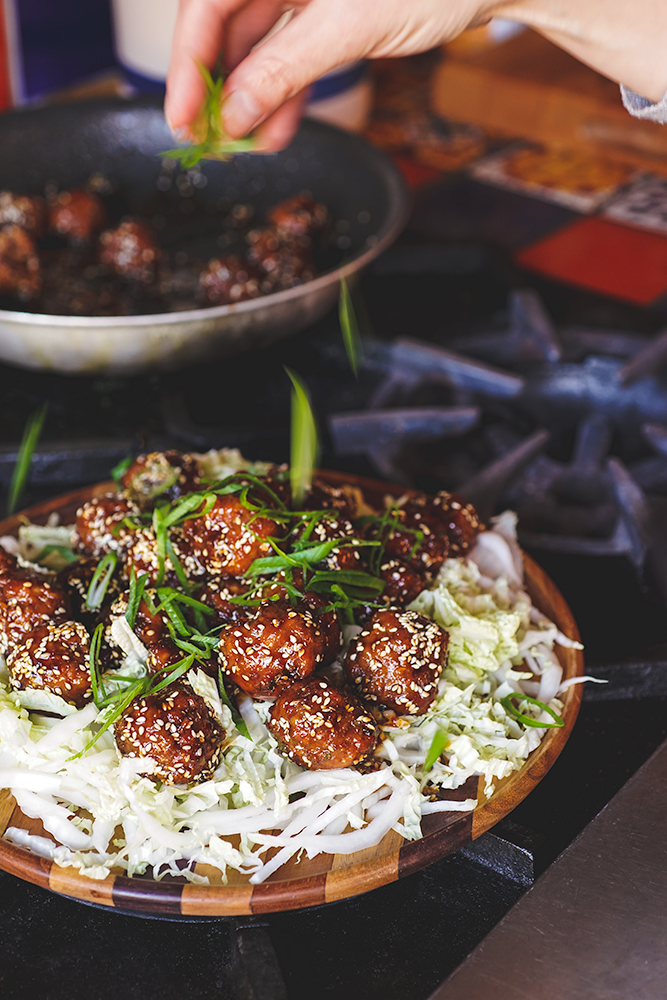 Maple Glazed Pork Meatballs