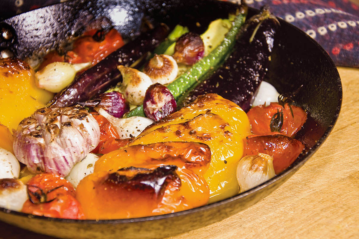 Vegetables Roasted with Mediterranean Herbs