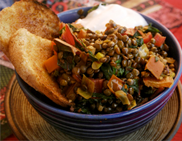 Swiss Chard and Lentil Mijoté