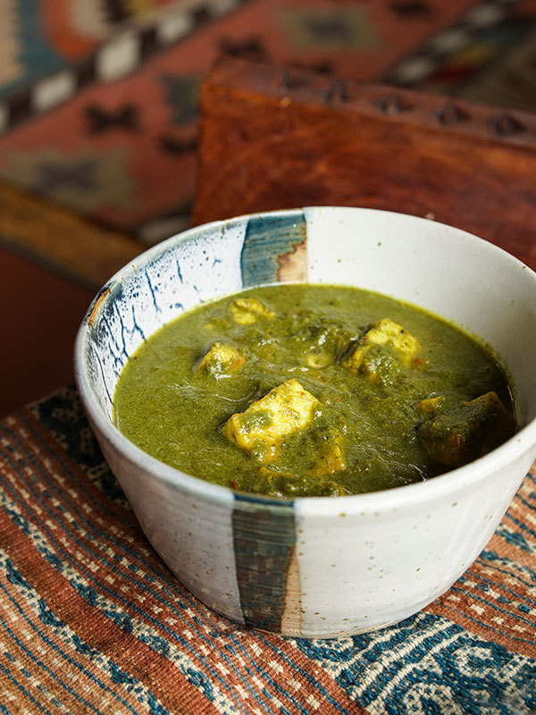 Palak paneer – Indian cheese with spinach