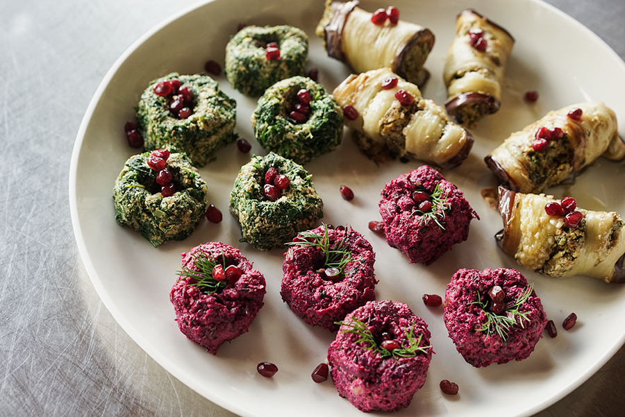 Pkhalis Trio – Vegetable and nut terrines
