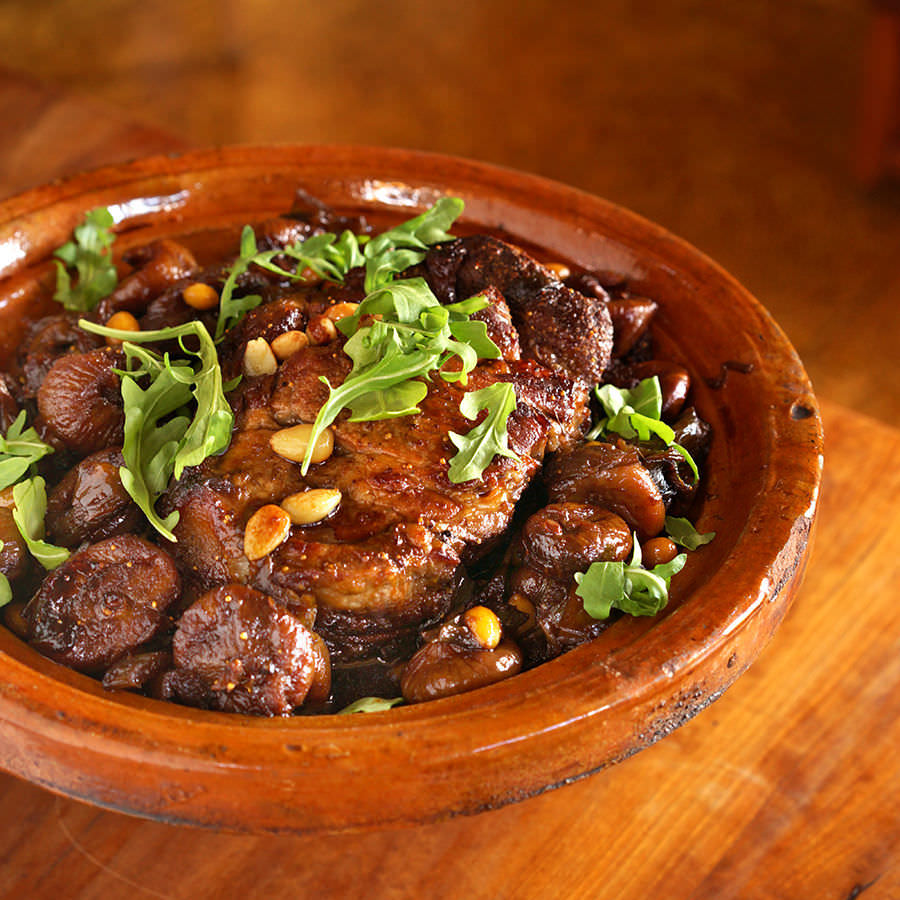 Apicius Braised Pork with Figs and Almonds