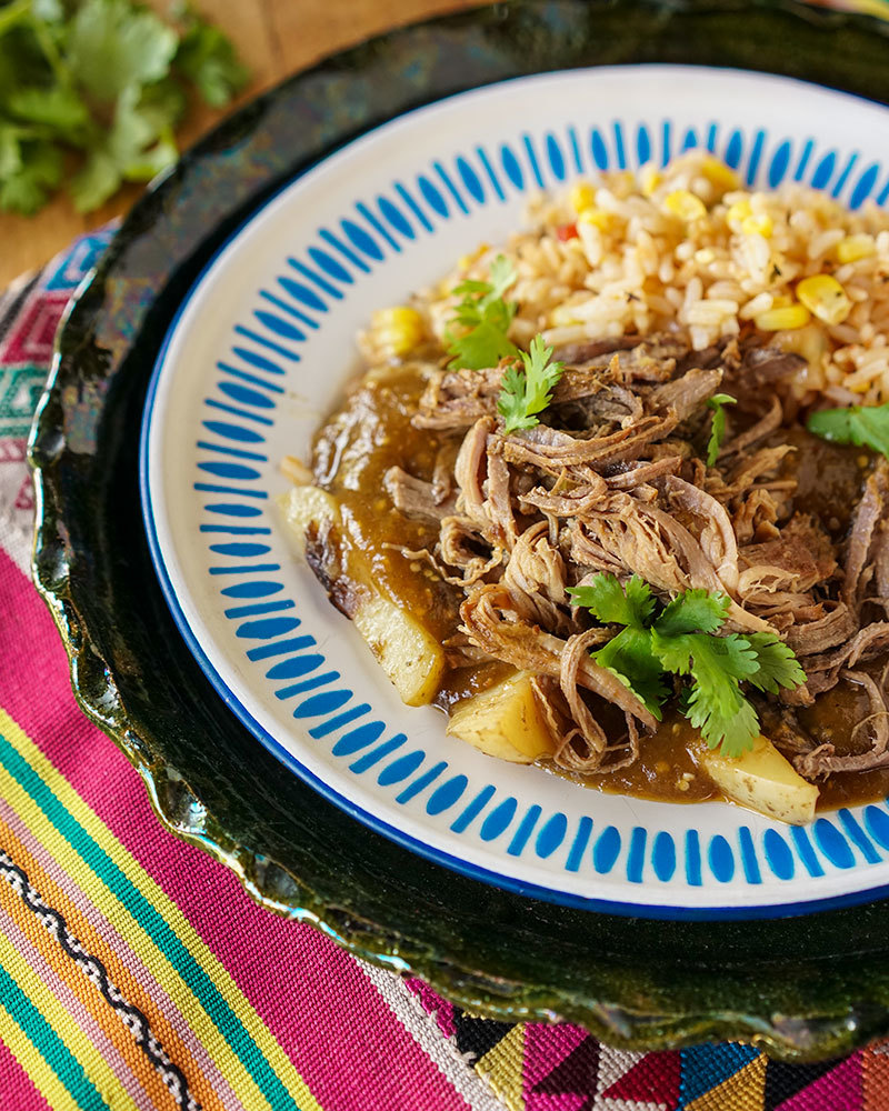Tomatillo Pulled Beef