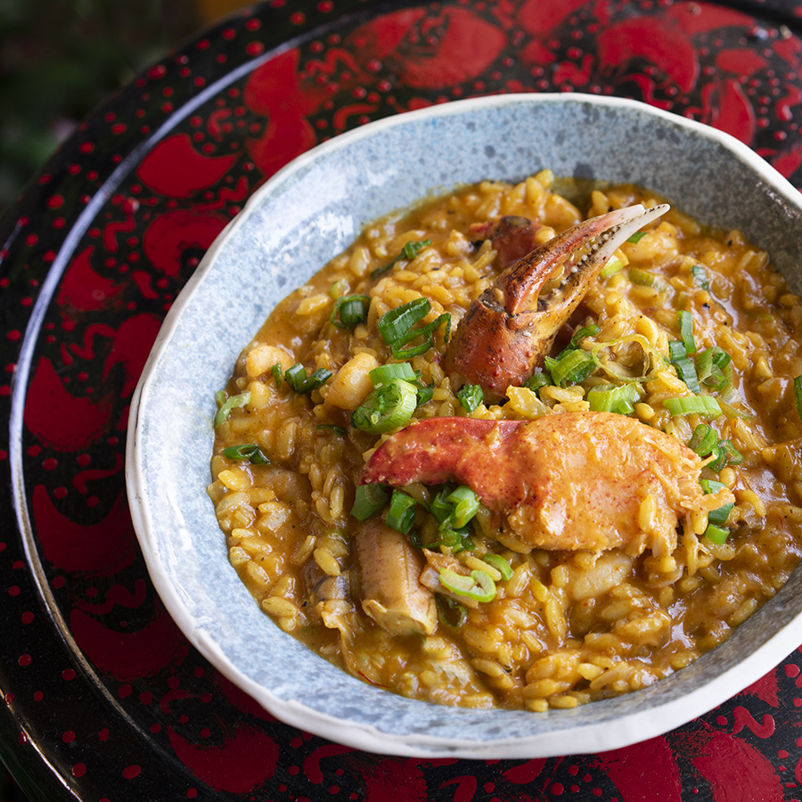Acadian seafood risotto