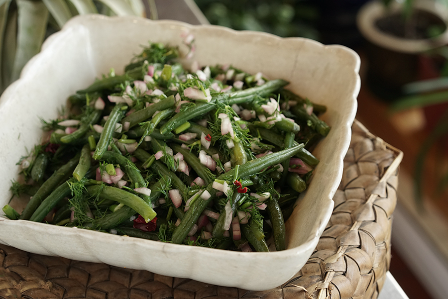 Georgian green bean salad