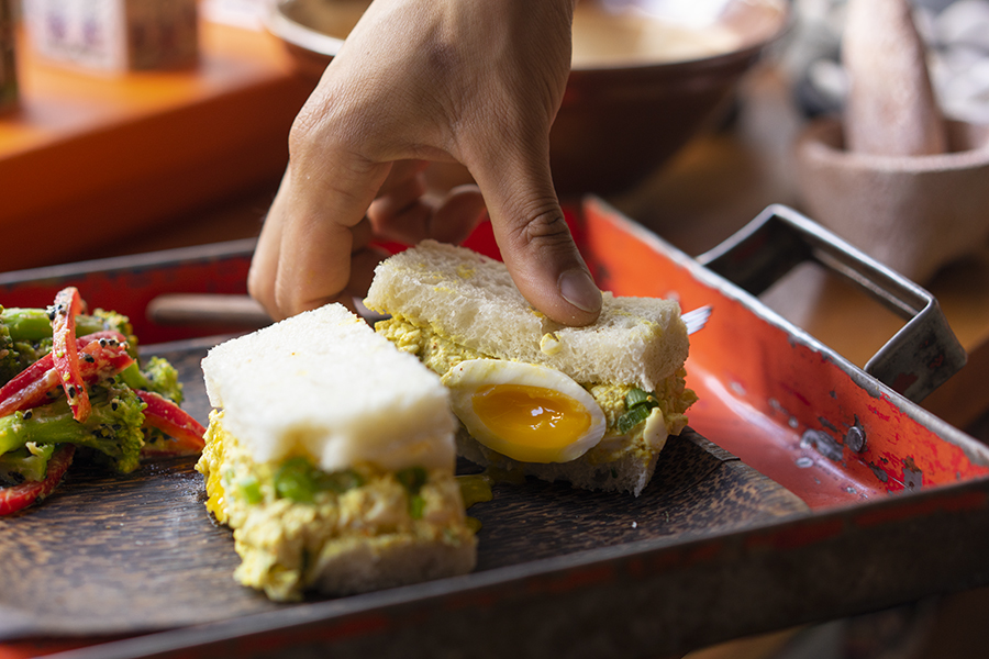Japanese curry egg sandwich