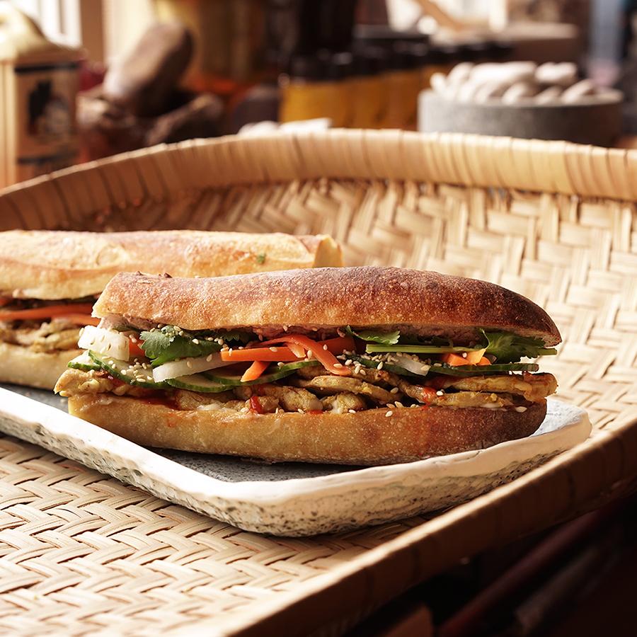 Cambodian pork sandwich