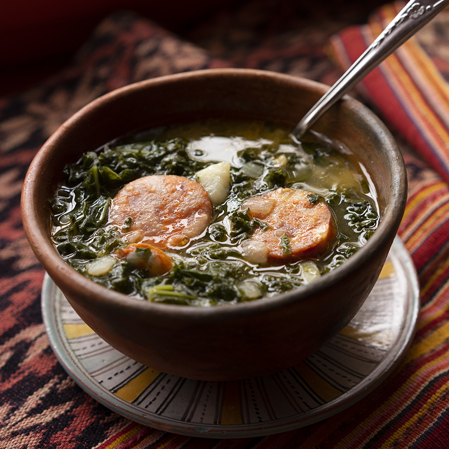 Kale and Portuguese Chouriço soup
