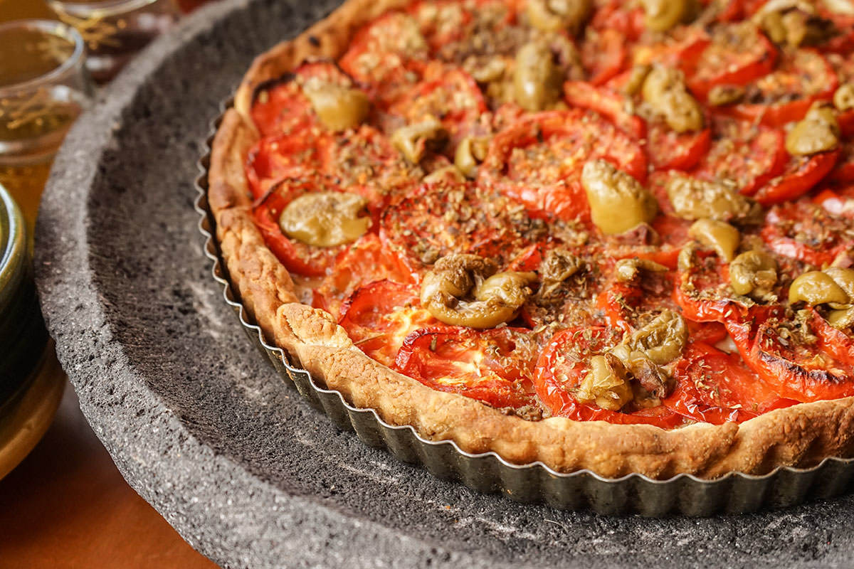 Herb and Tomato Tart