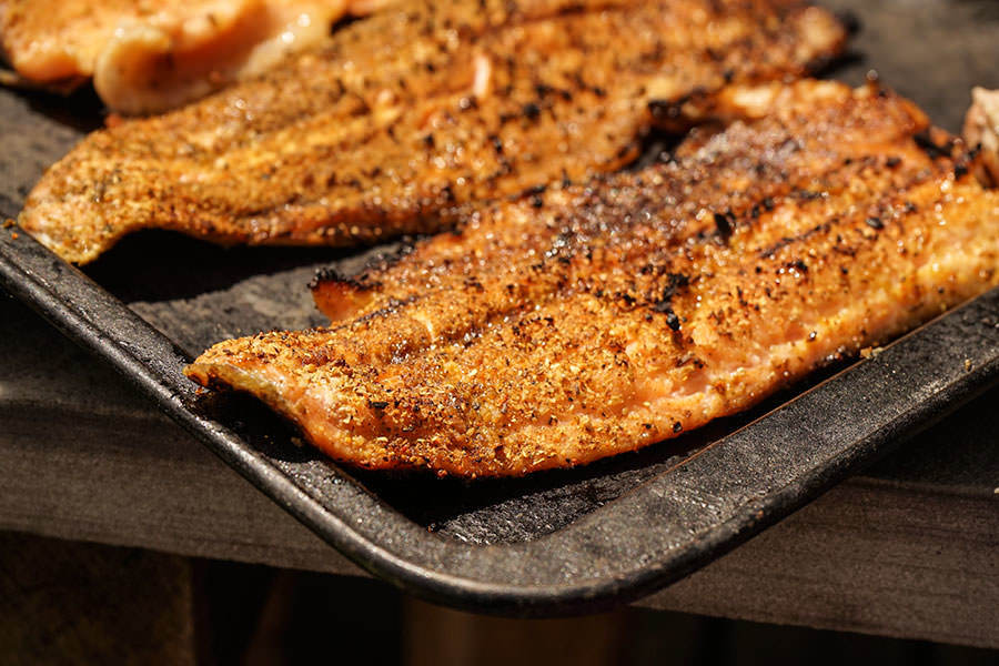 Indian Style Grilled Trout Filet Recipe Spice Trekkers