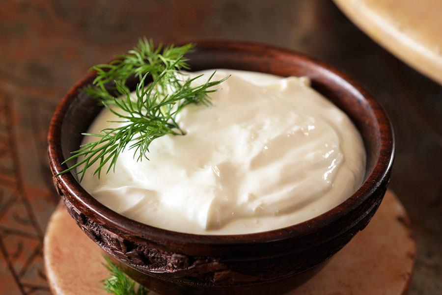 Garlic yogurt