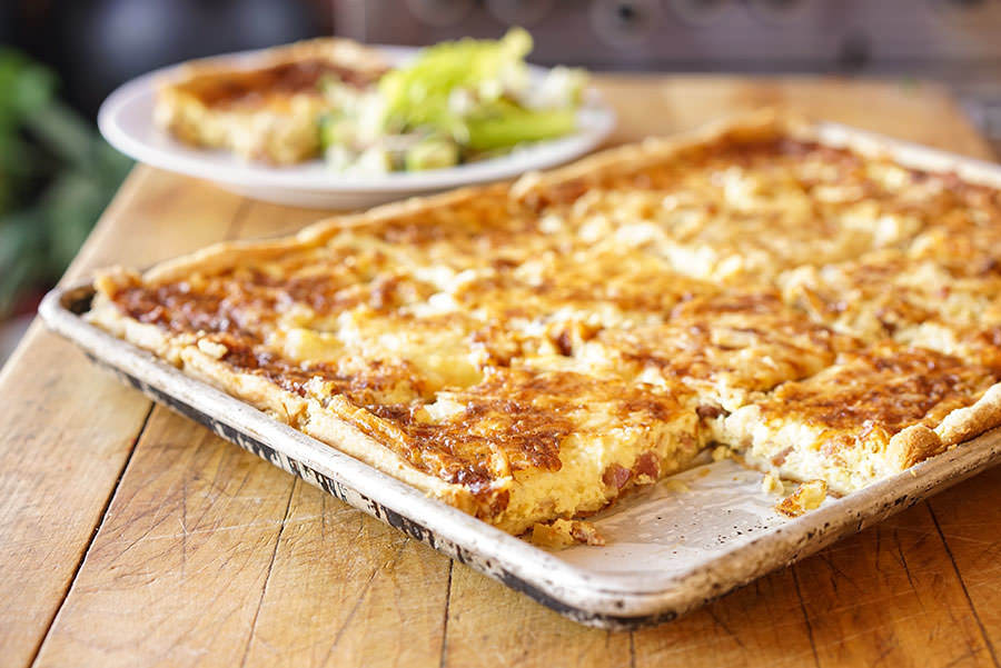 quiche lorraine with cheese recipe spice trekkers. Black Bedroom Furniture Sets. Home Design Ideas